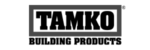 Tamko Building Products logo. Tamko Building Products is a roofing materials manufacturer we work with.